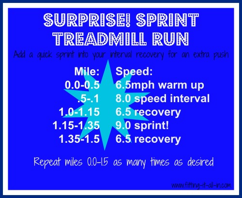 surprise sprint run - www.fittingitallinblog.com
