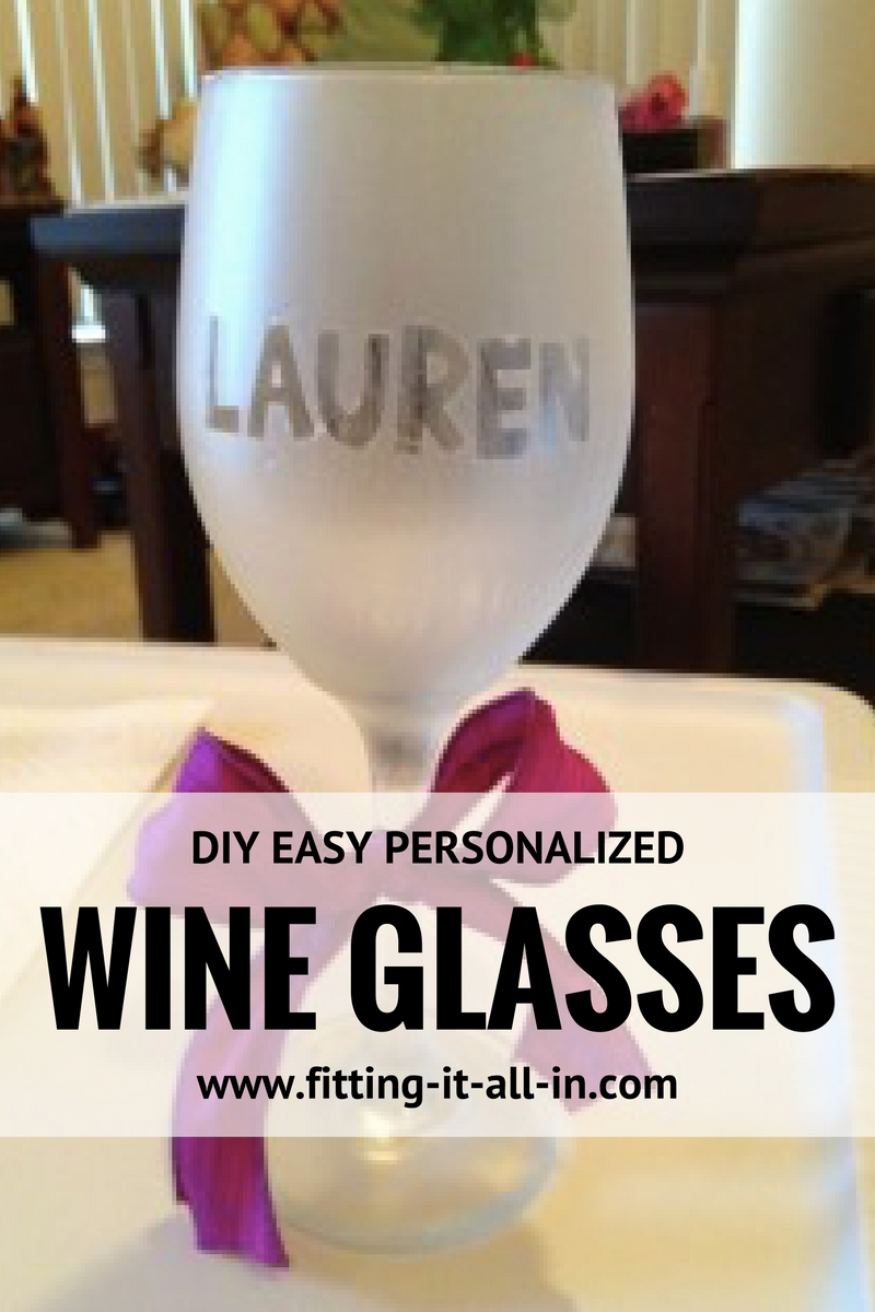 Easy personalized wine glasses