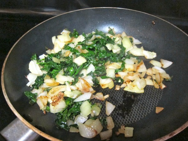 kale and onion
