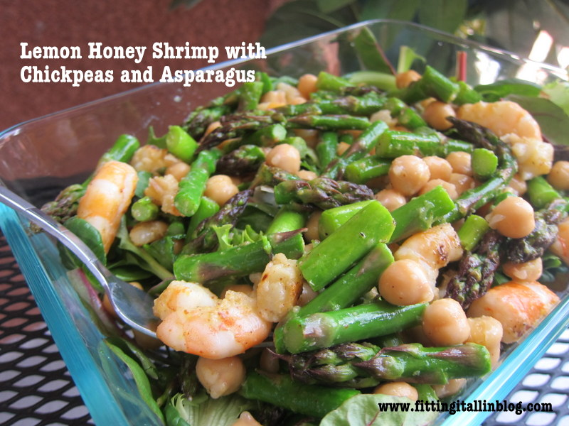 Lemon Honey Shrimp with Asparagus and Chickpeas - Fitting It All In