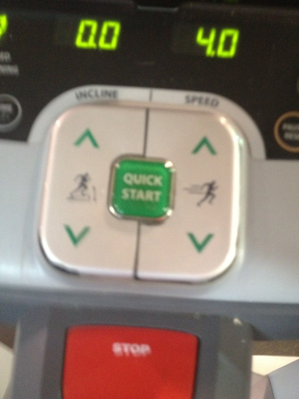 treadmill speed buttons