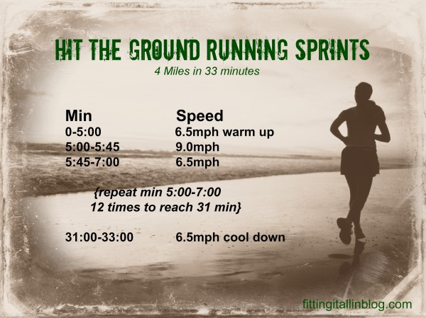Hit The Ground Running Sprints -- www.fitting-it-all-in.com #run #fitfluential #sprints