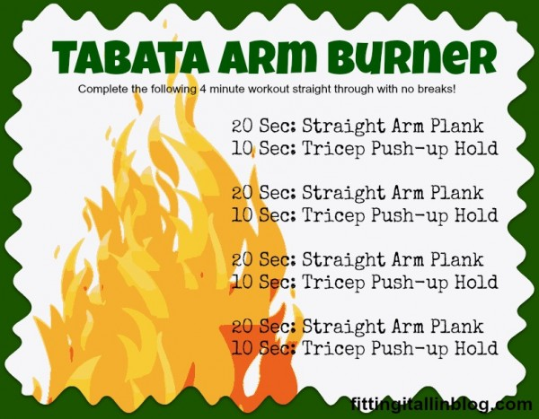 tabata arm burner - www.fitting-it-all-in.com #workout #armworkout #fitfluential #tabata