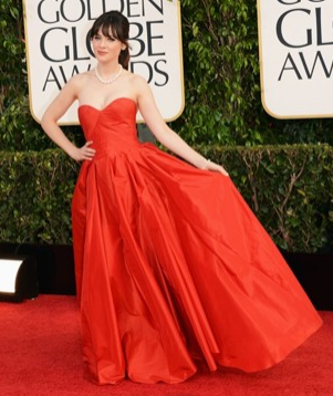 zooey deschanel golden globes