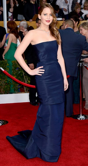 """jennifer lawrence SAG dress"""