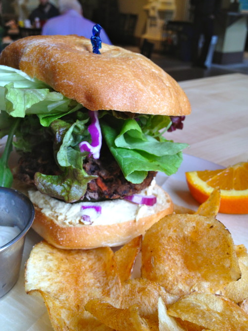 local harvest cafe veggie burger
