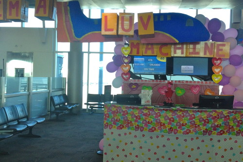 airport on valentine's day
