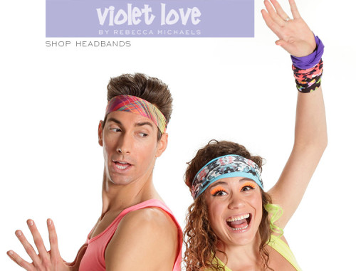 Violet Love Headbands