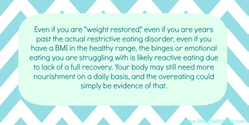reactive eating