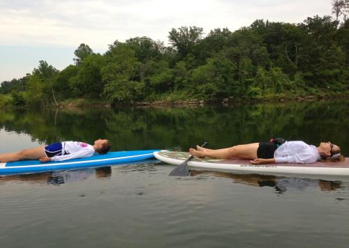 SUP Yoga - Clare & Mom