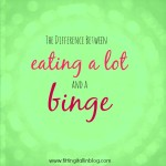 eating a lot vs binge - Fitting It All In