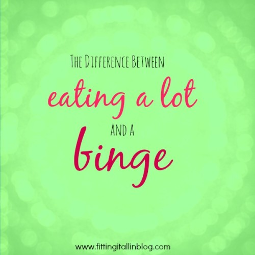 eating a lot vs binge