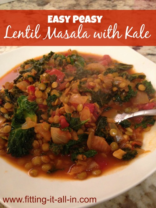 Lentil Masala - www.fitting-it-all-in.com