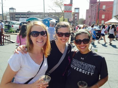 Clare, Emily, Emily at Cville Farmer's Market