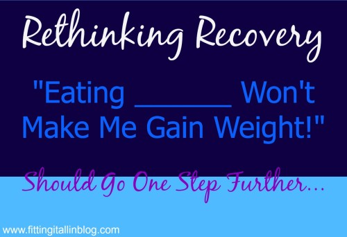 rethinking recovery