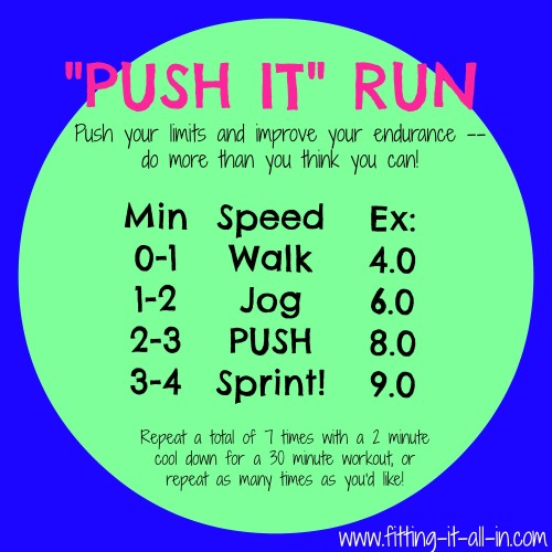 Push It Run - www.fitting-it-all-in.com #run #workout #pushit! #fitfluential
