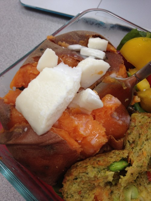 Sweet Potato with Coconut Butter