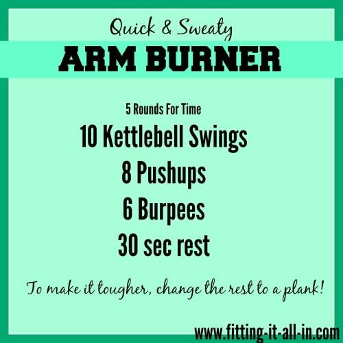 Quick & Sweaty Arm Burner