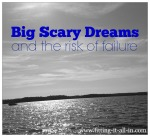 Big Scary Dreams & The Risk of Failure {What Type Of Doctor I Want To Be}