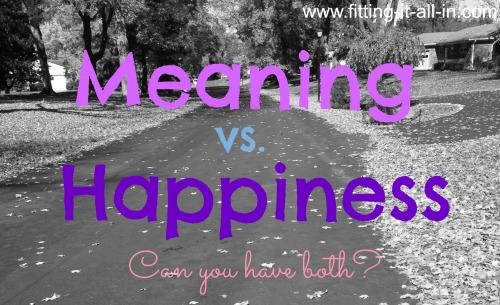 meaning vs. happiness
