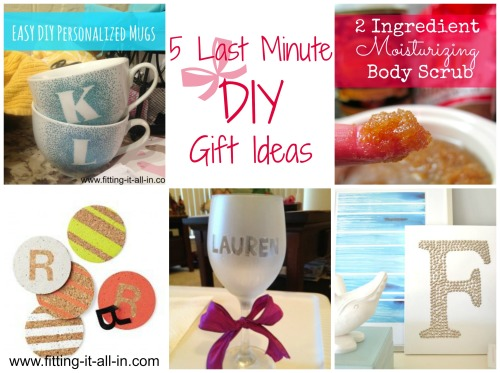 5 Last Minute Diy Gift Ideas Fitting It All In