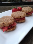 A Loving Spoon Honey Vanilla Bourbon Peanut Butter Cookie Sandwiches With Homemade Strawberry Jam {Giveaway!}