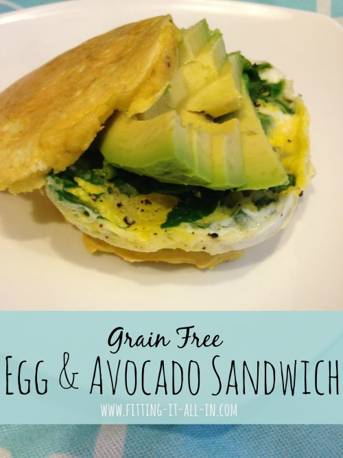 Grain Free Egg and Avocado Sandwich