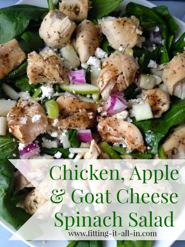Chicken apple and goat cheese spinach salad 2