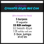 15 Minute Crossfit-Style Met Con Workout