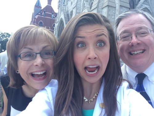 Clare, Mom & Dad - White Coat Ceremony