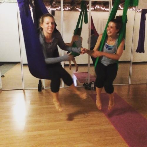 Clare & Amanda - Aerial Yoga