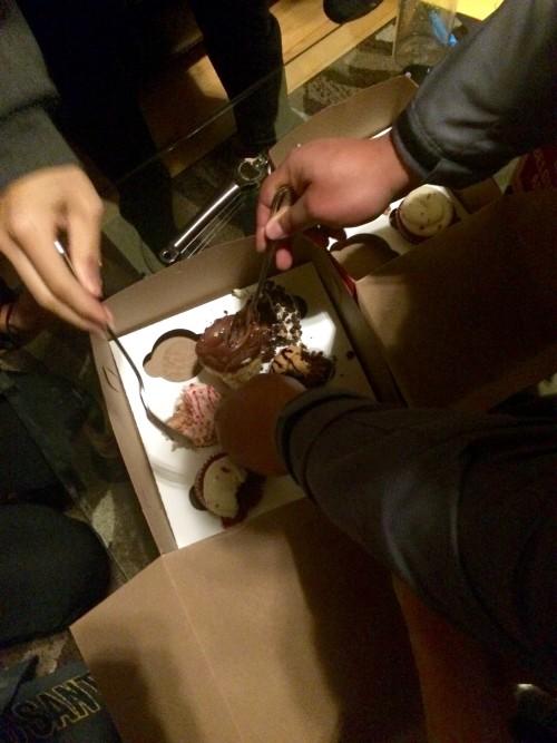Sharing Birthday Cupcakes!