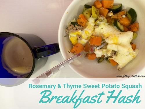 Rosemary & Thyme Sweet Potato Squash Breakfast Hash - Fitting It All ...