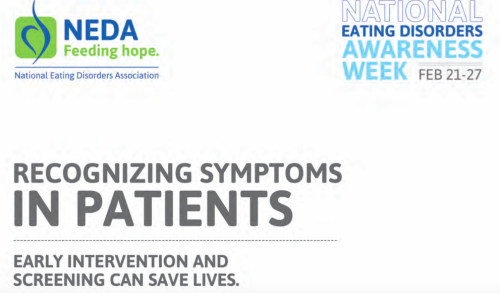 NEDA Recognizing Symptoms in Patients