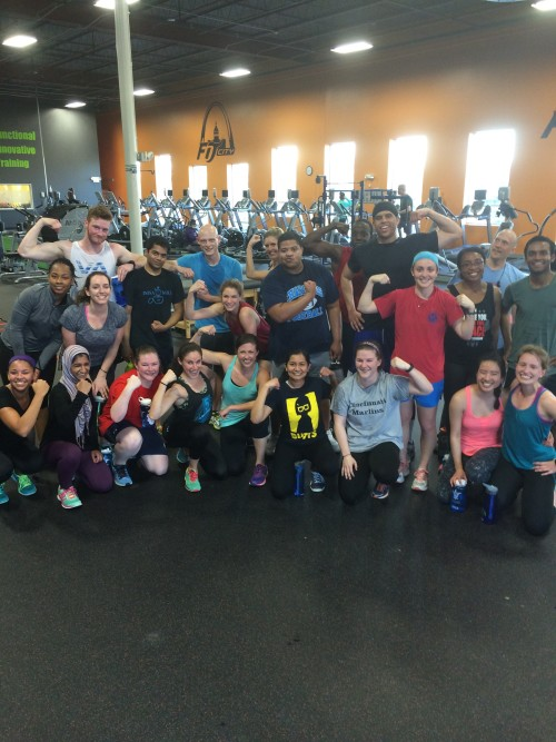SLU Med at Fit City STL Bootcamp