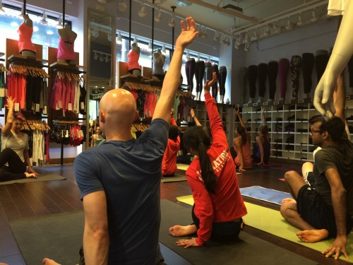 SLU Med Yoga at Lululemon