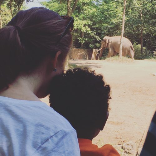 Clare and Baby D at the St. Louis Zoo