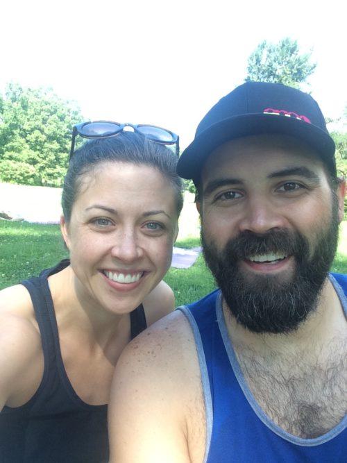 Clare and David, Yoga
