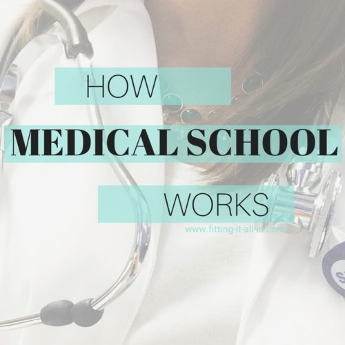 HOW MEDICAL SCHOOL WORKS - www.fitting-it-all-in.com