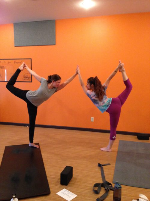 Clare and Vita - Yoga Teacher Training