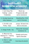 20 Min Spin Workout + Playlist