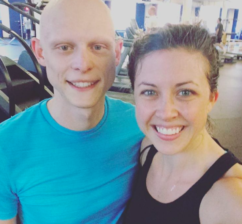 Clare and AJ, Workout