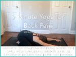 5 Minute Yoga for Back Pain (AKA People That Sit At Desks All Day)