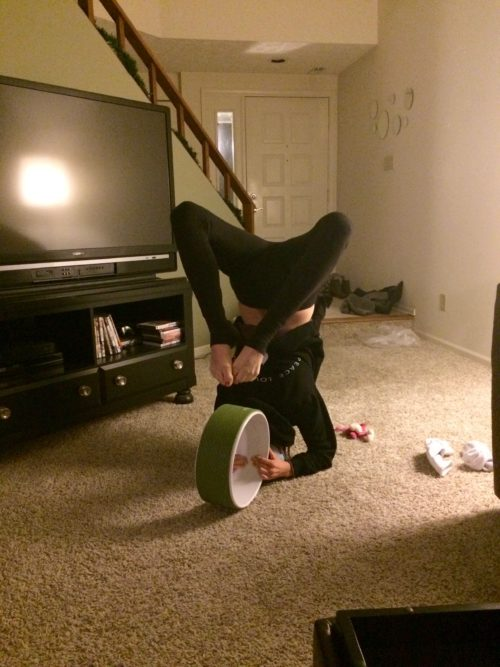 Laura - Scorpion on Yoga Wheel