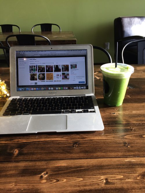 Blog Work and Green Juice