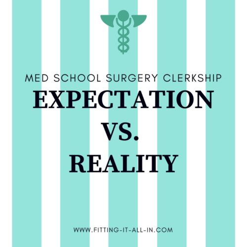 Surgery Clerkship Expectations Vs  Reality - Fitting It All In